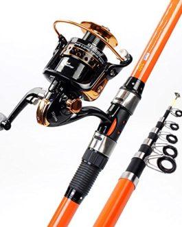 Miao Canne à pêche, carbone Long Shot rigide Pêche Pêche novice Gear Fournitures Ensemble tringle à la mer