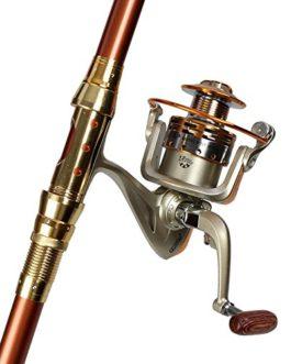 Miao Canne à pêche, carbone Super dur longue vue Mer Ensemble tringle Ensemble complet d'équipement de pêche