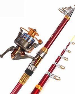 Miao Canne à pêche, carbone longue vue Mer Ensemble tringle Ensemble complet de pêche Fournitures