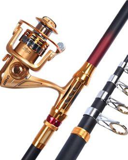 Miao Canne à pêche, carbone, ultraléger Super dur Long Throw Mer Rod Définit Fournitures d'équipement de pêche