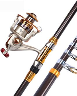 Miao Canne à pêche, novice Super rigide Carbone Mer Ensemble tringle Long Shot Couvre-lit Pole en métal Roue de pêche Pêche Gear