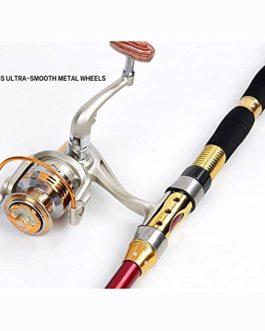 Miao Cannes à pêche, Mini Ultra Portable courte en carbone rigide Tune Mer Ensemble de tige