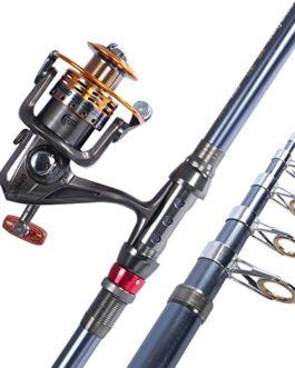 Miao Cannes à pêche, carbone dur Pêche Long Shot de canne à pêche Mer en métal