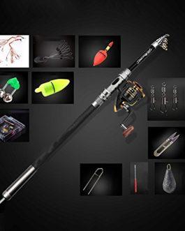 Miao Mer Rod Lot, Long, pêche Barre de cannes à pêche Ensemble complet d'équipement de pêche