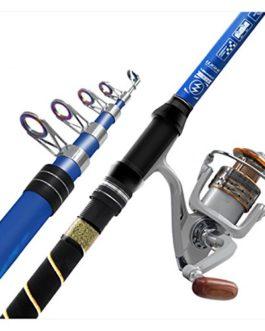 Miao de canne à pêche de charbon, un ensemble complet de long Pêche Pêche en mer Gear
