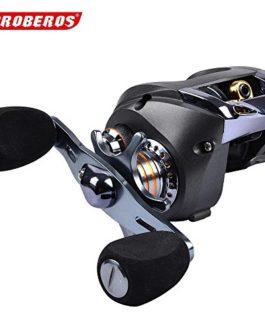 PRO BEROS Bobine de pêche de qualité supérieure de 1PC Rouleau de lèvre couleur noire 8 Roulements à billes 217g Rigueur des roues de la goutte d'eau droite et gauche: 6.3: 1