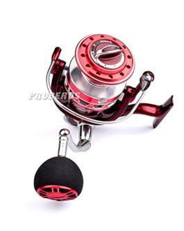 PRO BEROS Roue de pêche en métal pleine Ocean Boat Fishing Aluminium + acier inoxydable 5.5: 1 Bobine de rotation 13BB MX3000-9000
