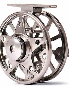 SHZJ Full Alliage D'Aluminium CNC Fly Fishing Reel 3BB 1: 1 Rapport D'Engrenage Gras MéTal Gris Corps Qualité en Plein Air Chasse PêChe en Mer Moulinet, Gray