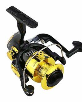 SHZJ Moulinets De Pêche Spinning Black Gold 12BB 5.5: 1 Roue Spinning Reel Pardew Leurre Roue Vessel Casting Bait Casting Pêche Au Vol À La Pêche