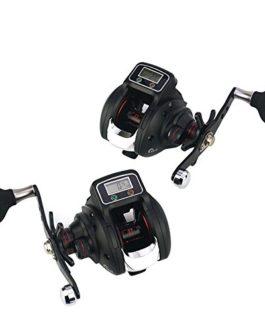V.JUST Rapport de commande de moulinet de pêche 6.3: 1 tasse en soie, affichage numérique clair Système de butée instantanée système de frein magnétique réglable portant 14BB