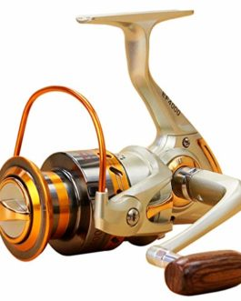 Xmiral Moulinet de pêche 12BB bobines Jaune Full Metal Spinning Reel coulée Fishing Reels Wheel