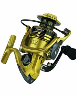 Xmiral Moulinet de pêche 14bb bobines Jaune Full Metal Spinning Reel coulée Fishing Reels Wheel