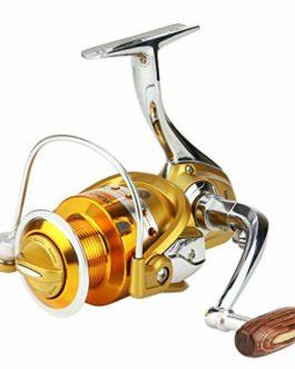 Xmiral Moulinet de pêche roulements Billes 5.5:1 Eau Douce Eau salée Vitesse engins bobines Fishing Wheel Reel