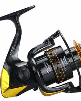 Xmiral Moulinet de pêche roulements Billes Eau Douce Eau salée Vitesse engins bobines Fishing Wheel Reel