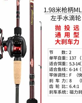 YWHY Canne À Pêche Carbon ML Adjustment 1.98 M for Straight Handle of Luya Rod Suit