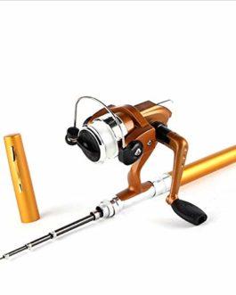 fgjhfghfjghj Super Lightweight Portable Pen Rod Fishing Set Mini Telescopic Fishing Rod Pole + Reel Pocket Fishing Reel Accessories