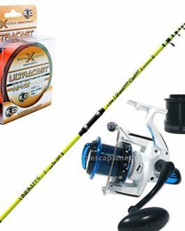 linea-effe Canne à pêche Surf Personal Caster 420+ Moulinet Syncro 6000FD 14roulements + monofilament Evo ULTRACAST Hi-Viz 300m