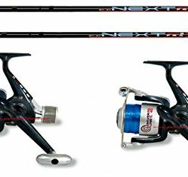 linea-effe Kit pêche 2pièces Canne Bolognaise 4MT Next + 2pièces Moulinet Vigor HG Shiver 30+ Fil