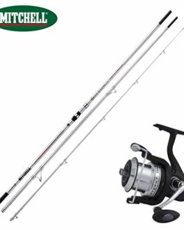 linea-effe Kit surfcasting Mitchell Canne Mitchell Avocet Powerback 450cm 100–250GR + Moulinet Mitchell Silver LC 700