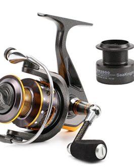 seaknight Dr Series Spinning pêche bobine–16lbs puissant système de frein en fibre de carbone–Tourne 11BB Moulinet de pêche avec bobine de rechange